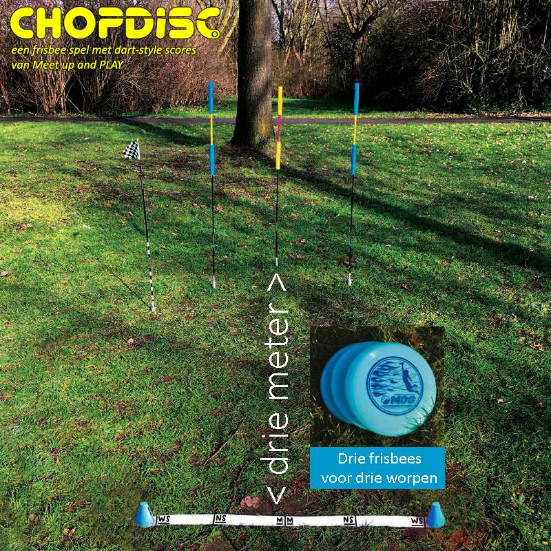 Chopdisc voorbeeld van het frisbee spel