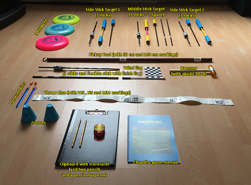 Chopdisc game materials