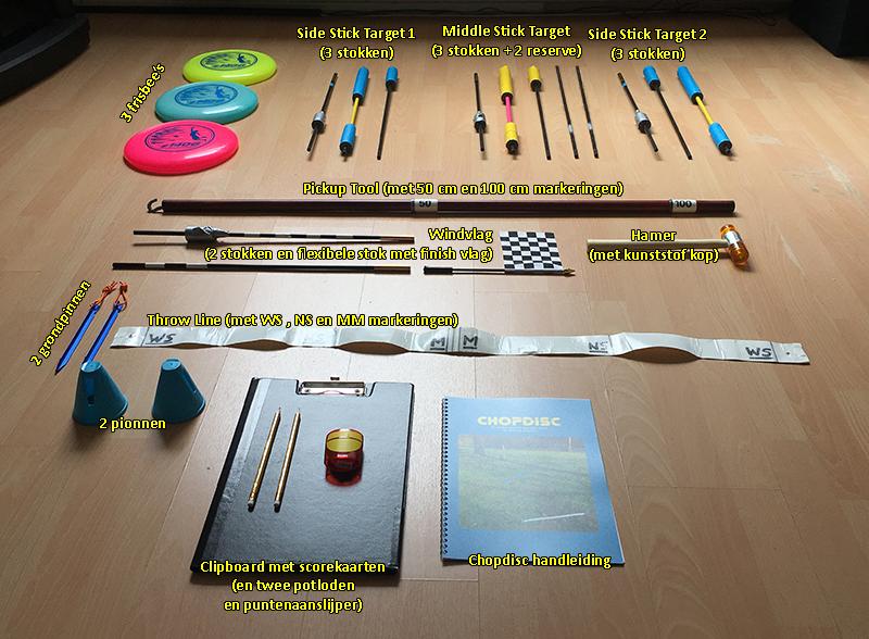 Chopdisc spel materialen